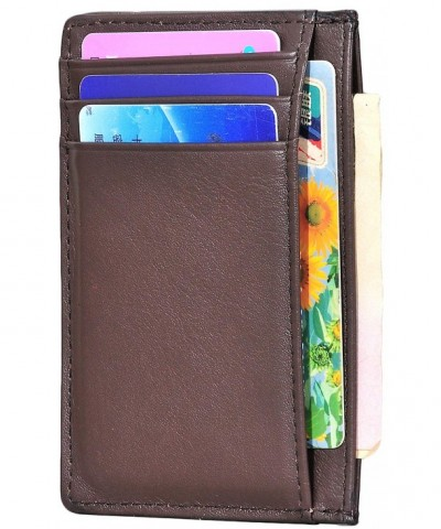 Hopsooken Wallet Minimalist Genuine Leather