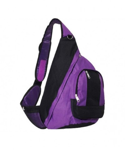 Everest Shoulder Backpack Messenger PURPLE
