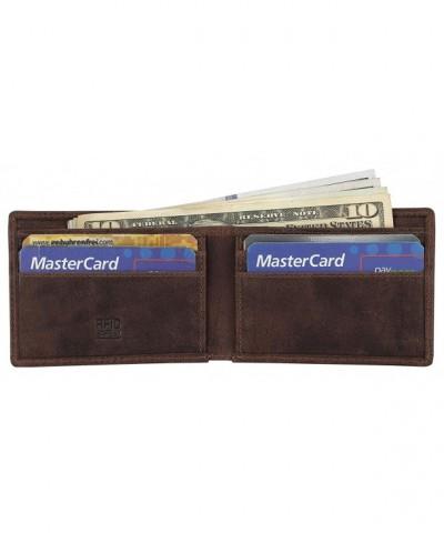 Genuine Leather Minimalist Bifold Wallet