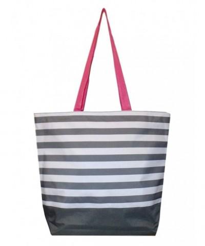 Fashion Zippered Webbed Handles Stripe