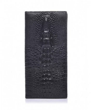 ZENTEII Genuine Leather Crocodile Embossed