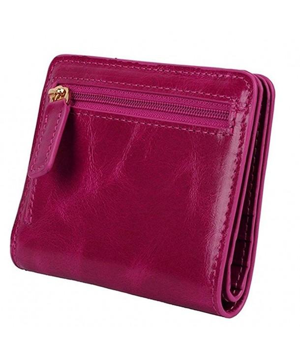 Blocking Womens Bi fold Leather Pocket