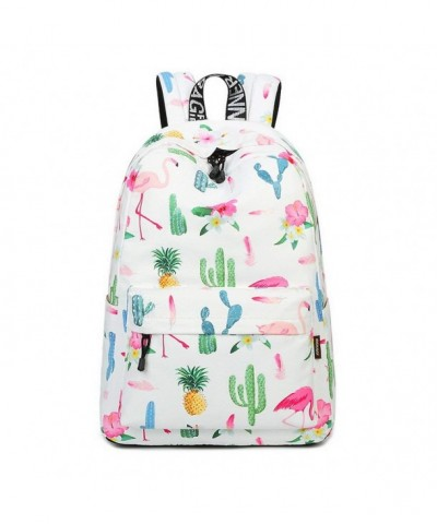 Teecho Waterproof Bookbag Backpack Flamingo