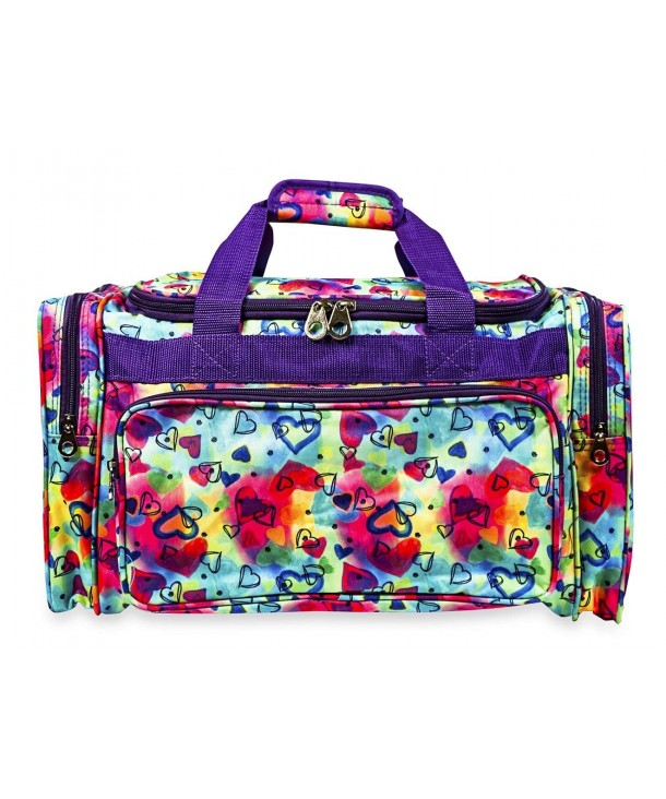 Jenzys Travel Duffle Multi color Rainbow