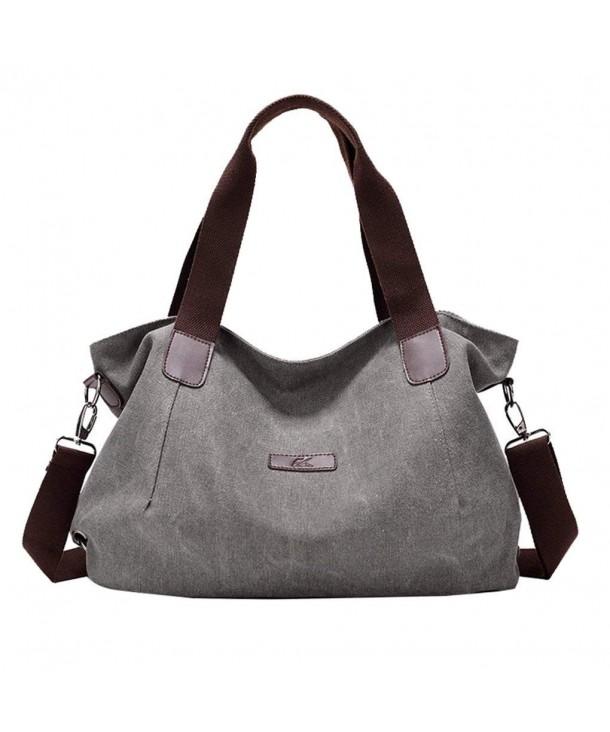 Women S Travel Handle Handbags Casual Shoulder Bag Canvas