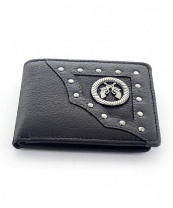 Faddism Emblem Leather Bifold Wallet