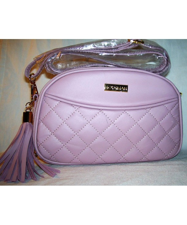 3203ced0d706 Joy & Iman- Diamond Quilted Genuine Leather Crossbody Bag with RFID ...