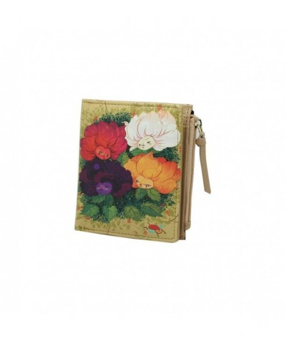 Moonwind Leather Organizer Billfold Flowers