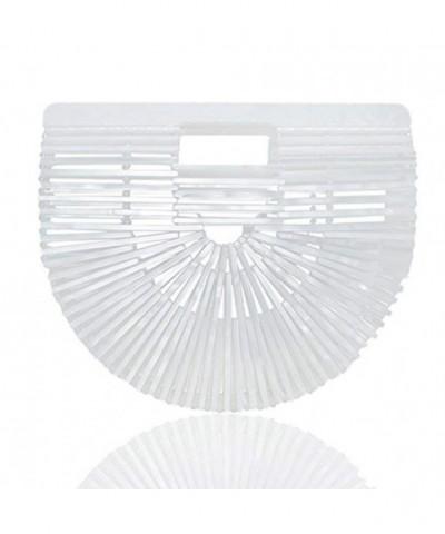 Womens Bamboo Acrylic Clutch Handbag