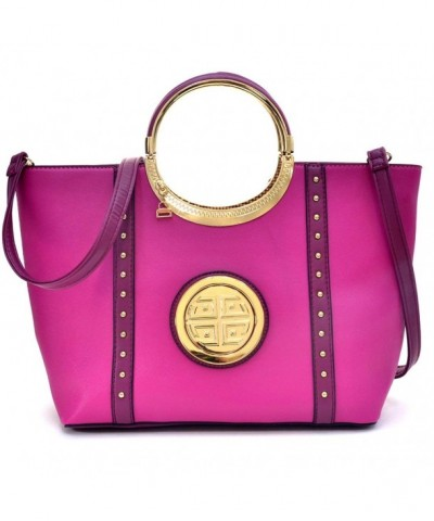 Shoulder Fashion Studded Satchel Handbag