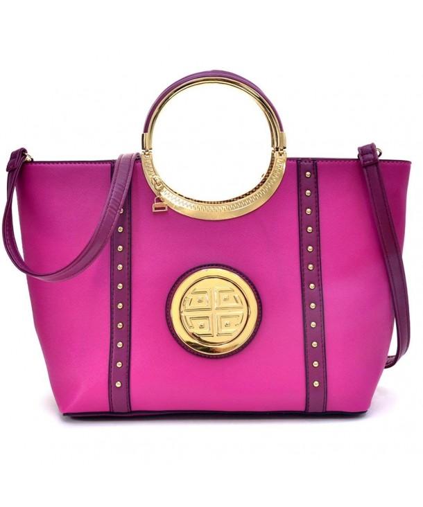 Shoulder Fashion Studded Satchel Handbag