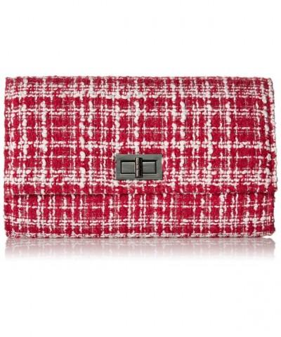 Womens Woven Texture Clutch Handbag