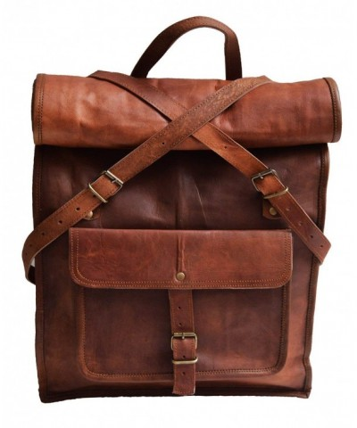Genuine leather backpack laptop rucksack