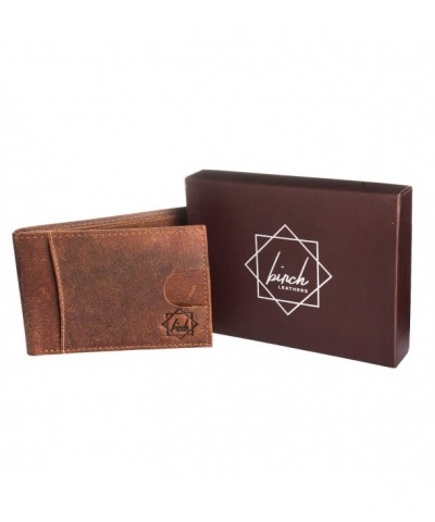 Bi Fold leather wallet partition protection