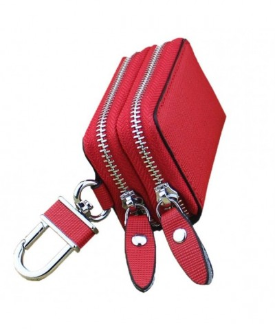 PEOTOUVY Multifunction Leather Double Zipper