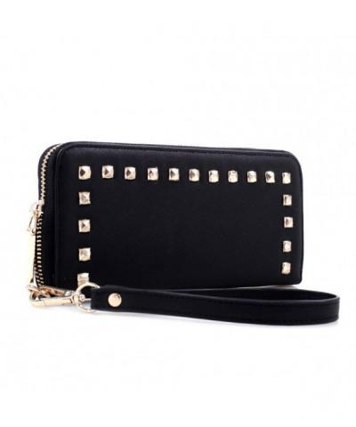 Studded Around Continental Womens Wristlet