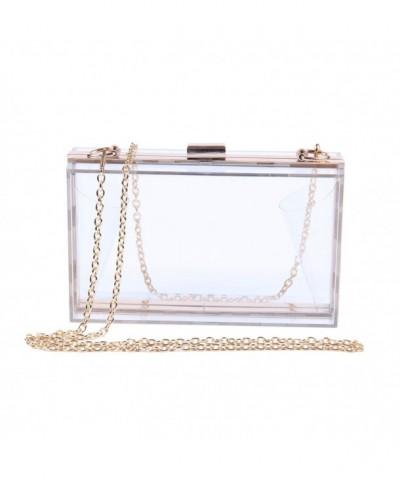Fashion Acrylic Transparent Clutches Shoulder