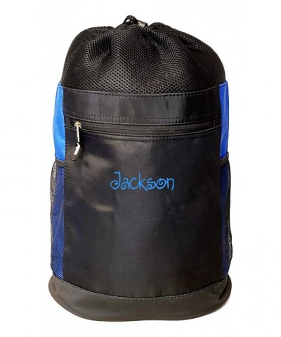 Personalized Tri Mesh Microfiber Drawstring Backpack