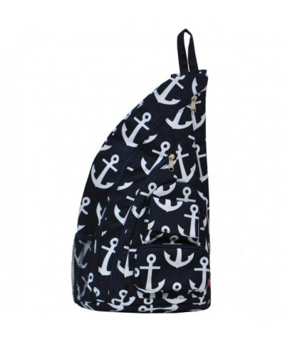 Anchor Themed Prints Sling Backpack