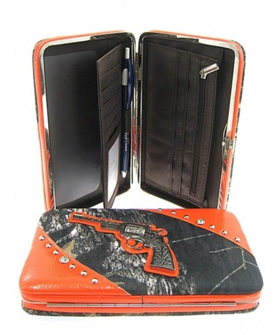 Mossy Pistol Wallet Clutch Orange
