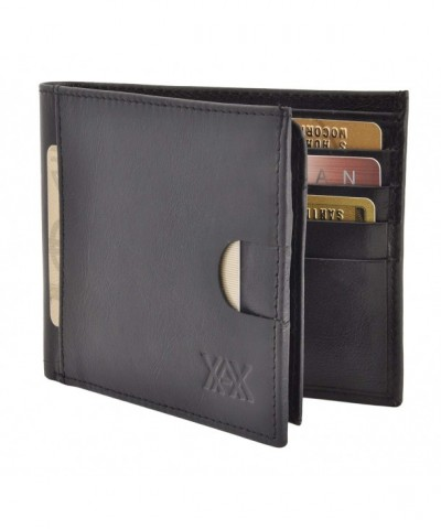 RFID Leather Bifold Wallets Men