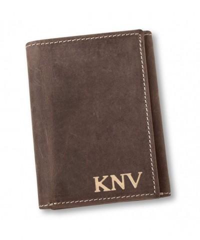 Personalized Medium Borello Leather Tri fold