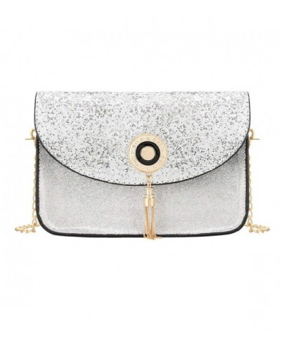 Candice Sequins Leather Crossbody Shoulder