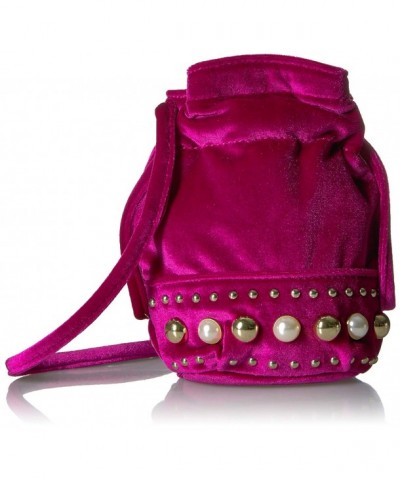 Fix Studded Velvet Crossbody Fuchsia