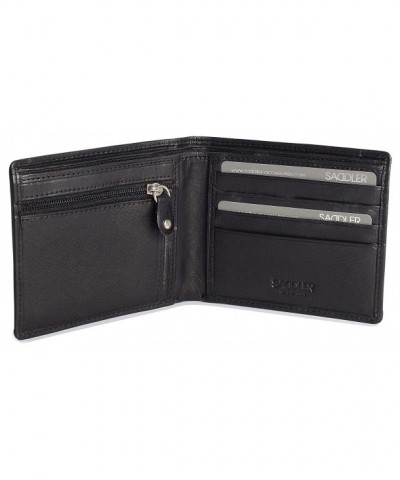 SADDLER Leather Credit Billfold Zipper