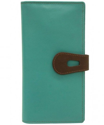 ili Leather Wallet Turquoise Toffee