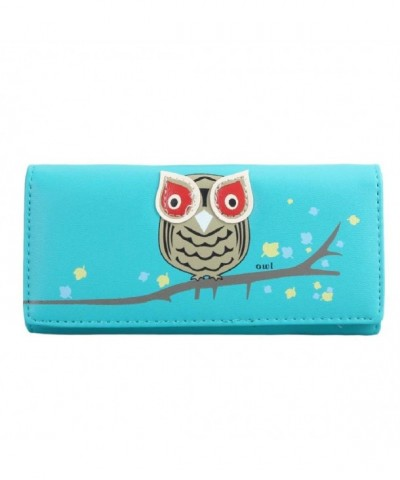 Pattern Womens Bi fold Button Clutch