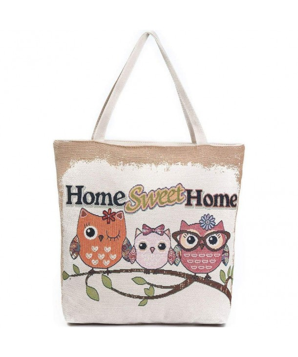 Donalworld Canvas Cartoon Shopper Handbags