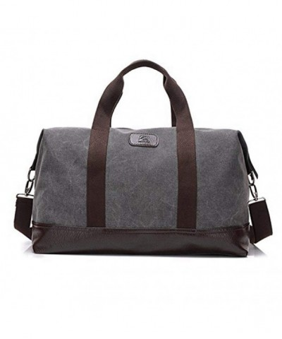 Travel Duffle Canvas Leather Weekend