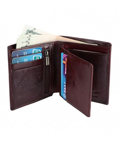 YOOMALL Genuine Leather Wallet Bifold