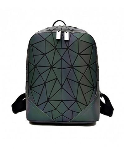 Geometric Backpack Backpacks Holographic Reflective
