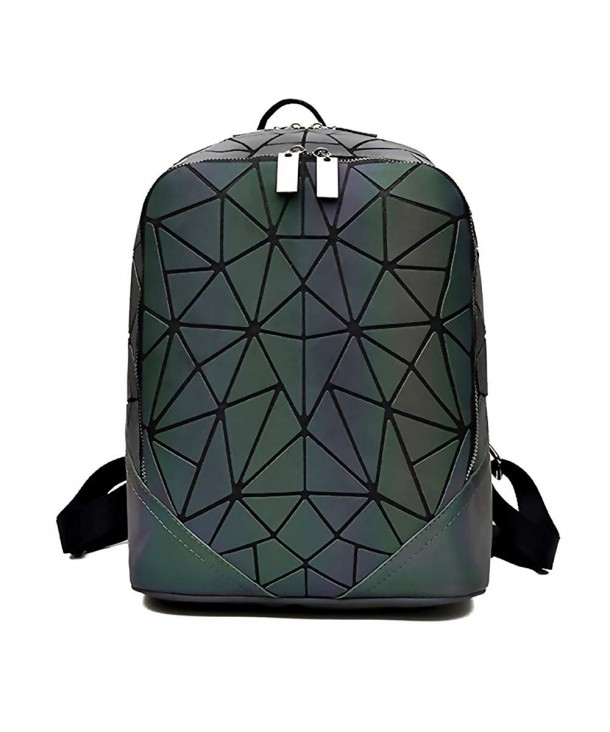 cbdea62927 Geometric Backpack Luminous Backpacks Holographic Reflective Bag ...