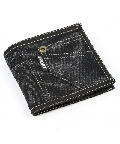 Sport Demin Bi fold Wallet Pocket
