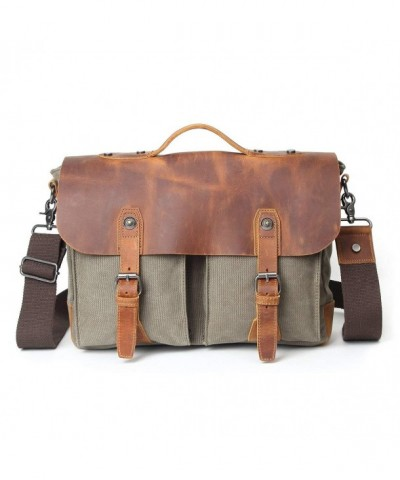 Samic Vintage Leather Messenger Shoulder