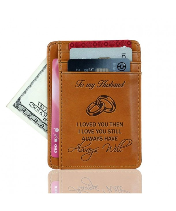 Pocket Minimalist Wallet Blocking Husband