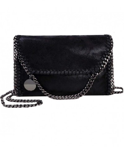 Olivia Paillette Leather Shoulder Messenger