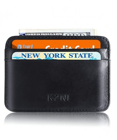 KZNI Pocket Wallet Genuine Leather