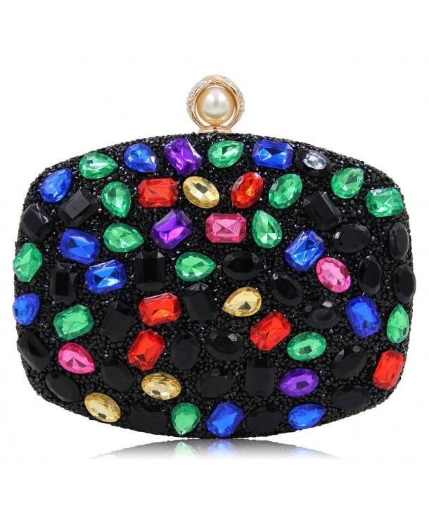 Evening Diamond Clutches Handbags Multicoloured