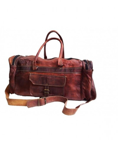 Genuine Leather Duffel Weekend Luggage