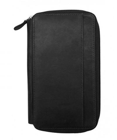 ili Leather Around Checkbook Wallet