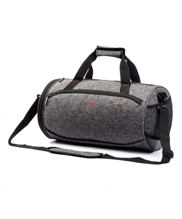 77fb316109f6 ... Gym Bag Duffel Bag with Shoe Compartment - Black - CI18DLYL59I. Outdoor  Athletic Fitness Duffel Compartment