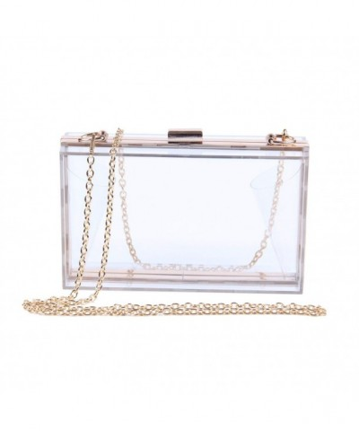 Fashion Acrylic Transparent Clutches Shoulder