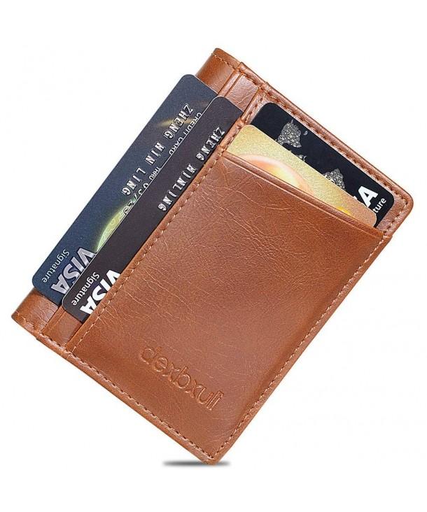 Leather Pocket Wallet Window Blocking