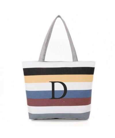 INITIAL Monogram Shoulder Colorful Stripes