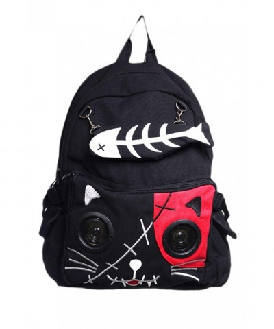 Banned Kitty Fishbone Speaker Backpack