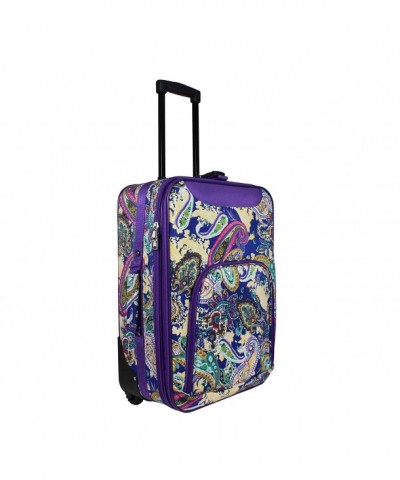 World Traveler Rolling Luggage Suitcase